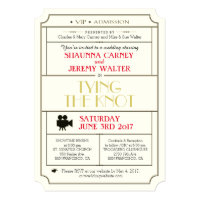 Vintage Wedding Ticket Invitation / Film Theme