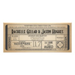 Vintage Wedding Ticket IV- 40's era 2.0 Custom Invitations