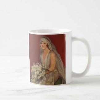 Vintage Wedding, Victorian Bride Bridal Portrait Coffee Mug
