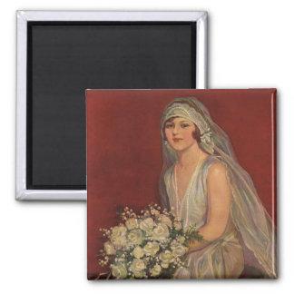 Vintage Wedding, Victorian Bride Bridal Portrait Magnet