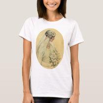 Vintage Wedding, Victorian Bride Bridal Portrait T-Shirt