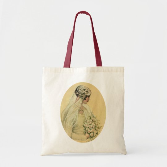 Vintage Wedding, Victorian Bride Bridal Portrait Tote Bag
