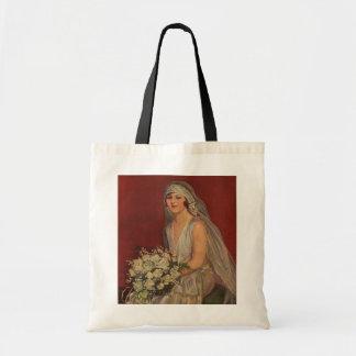 Vintage Wedding, Victorian Bride Bridal Portrait Tote Bag