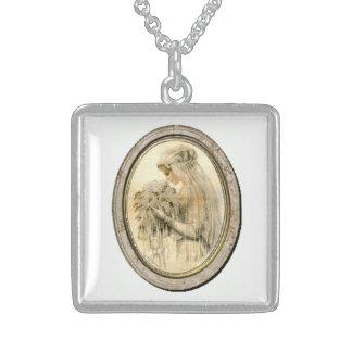 Vintage Wedding Victorian Bride Silver Necklace