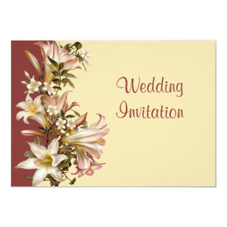 "Vintage Wedding Vow Renewal Invitation 5"" X 7"" Invitation Card"