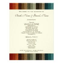 Vintage Wedding, Warm Autumn Stripes Pattern Flyer