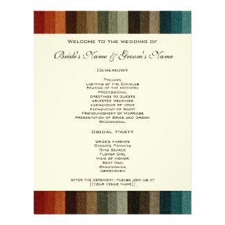 Vintage Wedding Warm Autumn Stripes Pattern Personalized Flyer