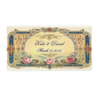 Vintage Wedding Wine Labels