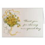Vintage Wedding Yellow Flower Floral Thank You Cards