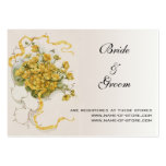 Vintage Wedding, Yellow Flowers and Bees in Meadow Business Cards