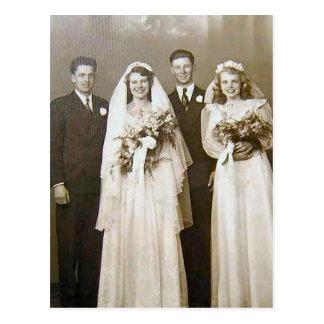 Vintage Weddings Postcard