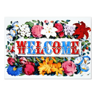 Vintage Welcome New Home Party Invite