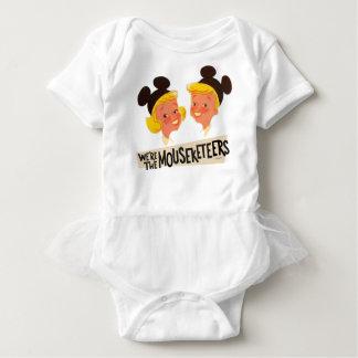 Vintage We're The Mouseketeers Baby Bodysuit