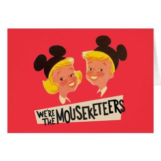 Vintage We're The Mouseketeers Card
