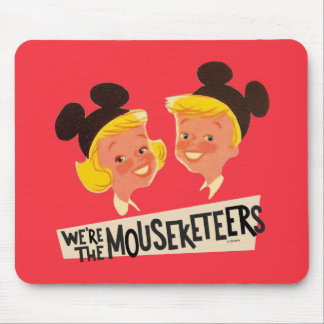Vintage We're The Mouseketeers Mouse Pad