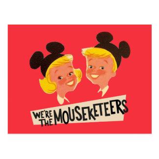 Vintage We're The Mouseketeers Postcard