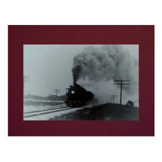 Vintage West Bound Train Postcard