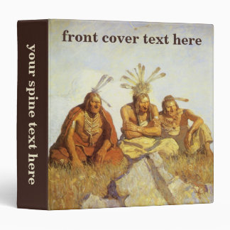 Vintage West, Guardians War or Peace by NC Wyeth 3 Ring Binder