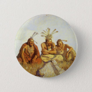 Vintage West, Guardians War or Peace by NC Wyeth Button