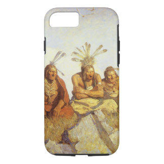 Vintage West, Guardians War or Peace by NC Wyeth iPhone 8/7 Case