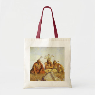Vintage West, Guardians War or Peace by NC Wyeth Tote Bag