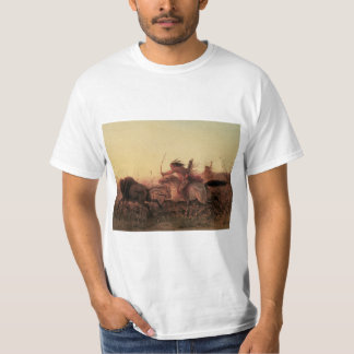 Vintage West, Indian Buffalo Hunt by Charles Wimar T-Shirt
