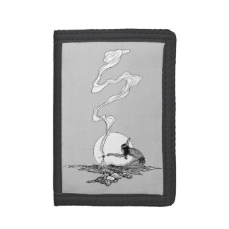 Vintage West, Indian in His Solitude by NC Wyeth Tri-fold Wallets