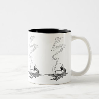 Vintage West, Indian in His Solitude by NC Wyeth Two-Tone Coffee Mug
