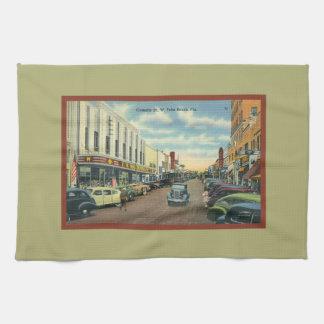 Vintage West Palm Beach Florida Clematis Street Towel