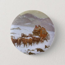 Vintage West, Why the Mail Was Late by Berninghaus Button