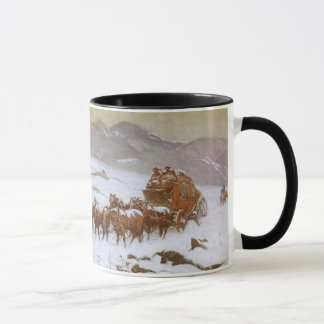 Vintage West, Why the Mail Was Late by Berninghaus Mug