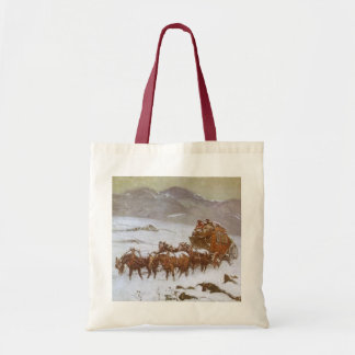 Vintage West, Why the Mail Was Late by Berninghaus Tote Bag