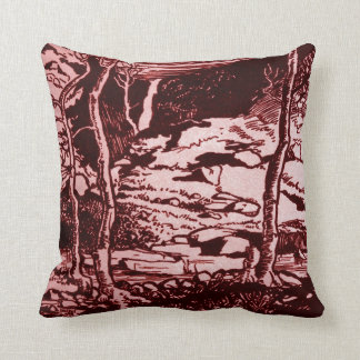 Vintage West Yorkshire England Landscape Haworth Throw Pillow