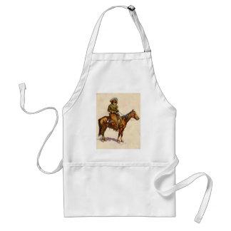 Vintage Western, An Arizona Cowboy by Remington Adult Apron
