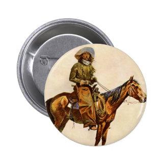 Vintage Western, An Arizona Cowboy by Remington 2 Inch Round Button