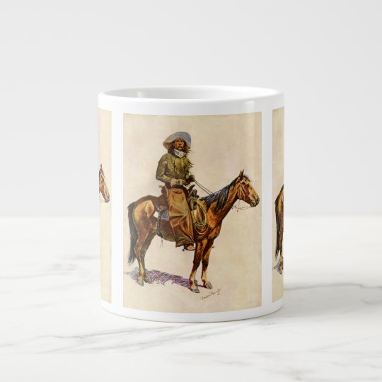Vintage Western, An Arizona Cowboy by Remington Large Coffee Mug