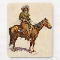 Vintage Western, An Arizona Cowboy by Remington Mouse Pad