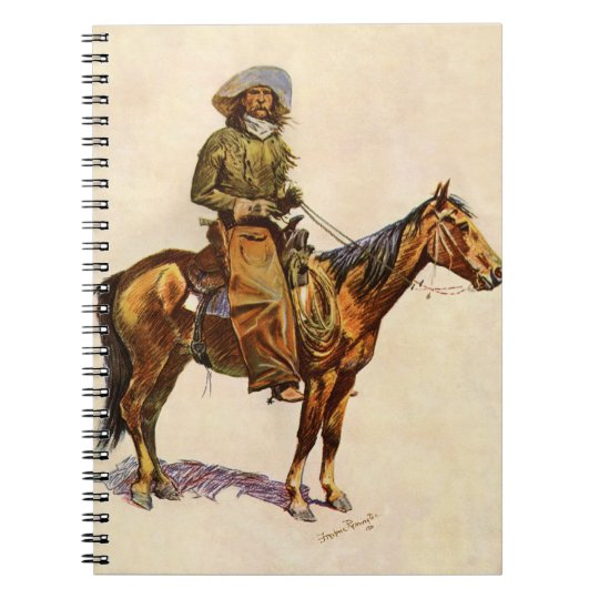 Vintage Western, An Arizona Cowboy by Remington Notebook