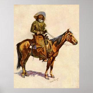 Vintage Western, An Arizona Cowboy by Remington Poster
