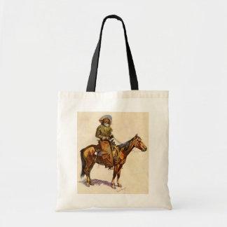 Vintage Western, An Arizona Cowboy by Remington Tote Bag