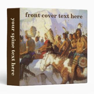 Vintage Western Art, Indian War Party by NC Wyeth 3 Ring Binder