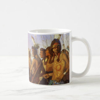Vintage Western Art, Indian War Party by NC Wyeth Coffee Mug