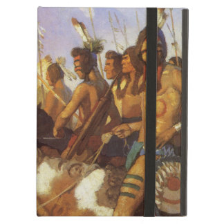Vintage Western Art, Indian War Party by NC Wyeth Cover For iPad Air