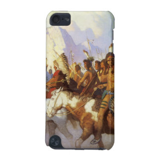 Vintage Western Art, Indian War Party by NC Wyeth iPod Touch 5G Cases