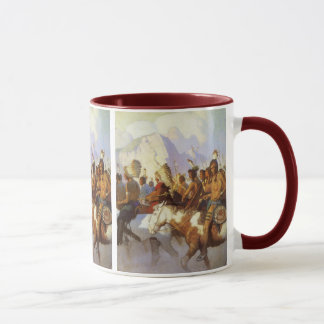 Vintage Western Art, Indian War Party by NC Wyeth Mug