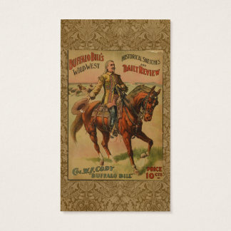 Vintage Western Buffalo Bill Wild West Show Poster Business Card