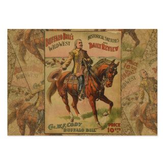 Vintage Western Buffalo Bill Wild West Show Poster Large Business Cards (Pack Of 100)