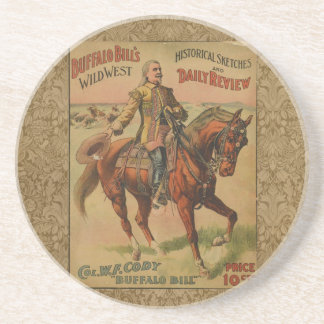 Vintage Western Buffalo Bill Wild West Show Poster Coaster