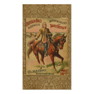 Vintage Western Buffalo Bill Wild West Show Poster Double-Sided Standard Business Cards (Pack Of 100)