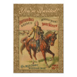 Vintage Western Buffalo Bill Wild West Show Poster 4.5x6.25 Paper Invitation Card